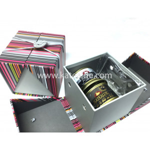 Caja fantasía colores, Lira corte foie gras, Bloc de pato, Bloc de pato trufado-lotes-de-regalo-katealde-comprarenred.com