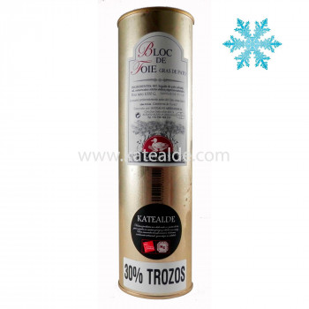 Bloc de foie gras de pato 1000 gr, 98% de foie, 30% Trozos-bloc-katealde-comprarenred.com