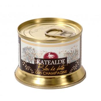 Bloc de foie gras de pato con champagne-bloc-katealde-comprarenred.com
