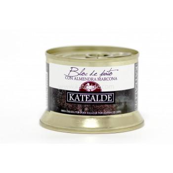 Bloc de foie gras de pato con almendra marcona ,98% de foie-bloc-katealde-comprarenred.com