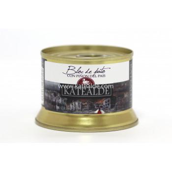 Bloc de foie gras de pato con piñón del país, 98% de foie-bloc-katealde-comprarenred.com