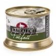 Parfait de foie gras de pato 130 gr, 75% foie