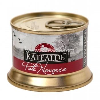 Paté Navarro con pepitas de foie gras 130gr, 60% foie-pates-y-mousses-katealde-comprarenred.com