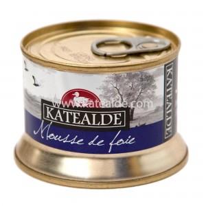 Mousse de foie gras de pato 130gr, 50% foie-pates-y-mousses-katealde-comprarenred.com