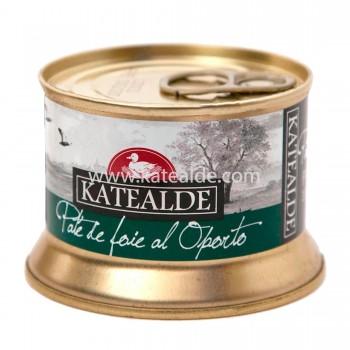 Paté de foie gras de pato al oporto 130gr, 35% de foie-pates-y-mousses-katealde-comprarenred.com