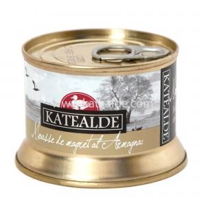 Mousse de magret de pato al armagnac 130gr-pates-y-mousses-katealde-comprarenred.com